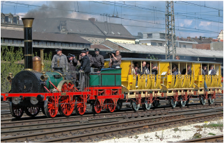 The German train 'Adler', Germany's first train
