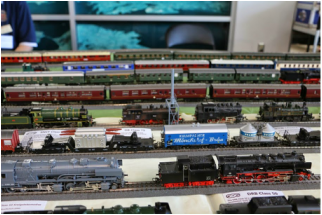 A collection of Marklin, Trix and Roco HO trains at Eurowest