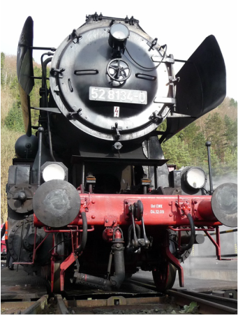 Steam locomotive in Gerolstein, Germany in 2010